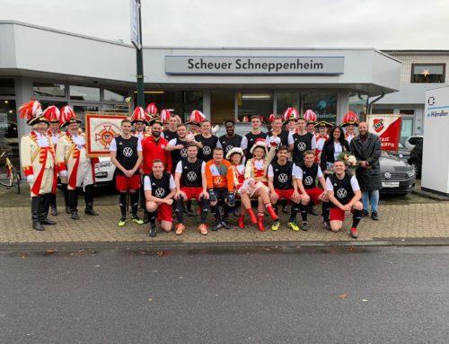Autohaus Scheuer Schneppenheim sponsert 2. Mannschaft